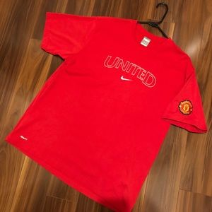 🔥DOPE Manchester United Nike FitDry Graphic Tee
